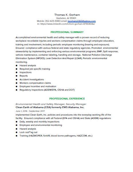 Gorham Resume