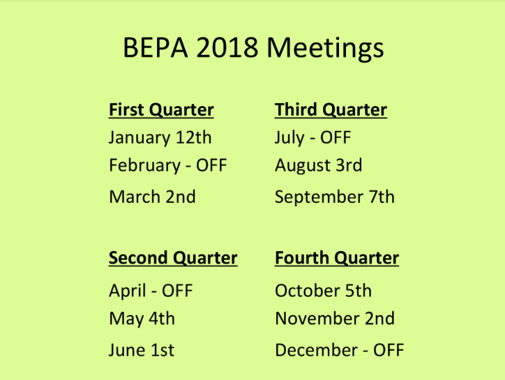 BEPA_Calendar_2018