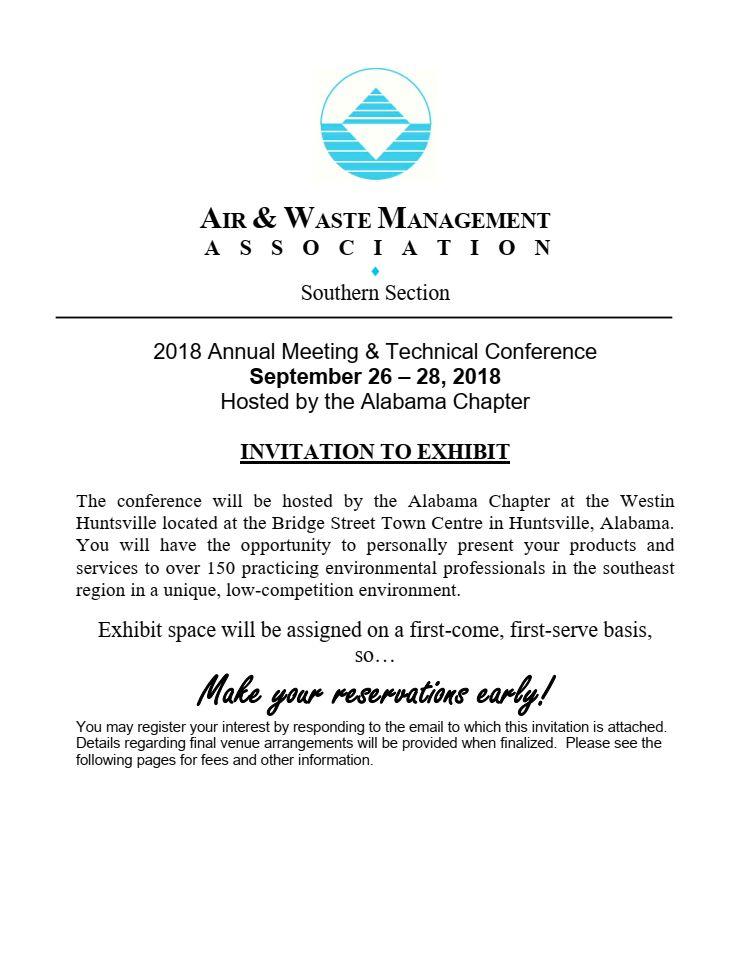 Exhibitor Invitation 2018